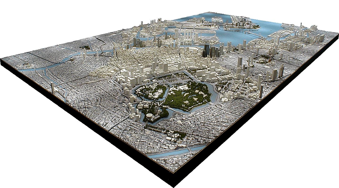 東京臨海部市街地模型 独立行政法人 都市再生機構